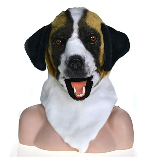 WENQU Full Head Creature Moving Mouth Cosplay Carnival Costume Dog Bleach Brute Masks for Sale (Color : Black, Size : 2525)]()
