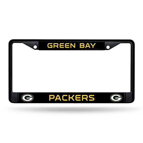 Rico Green Bay Packers NFL Black Metal License Plate Frame