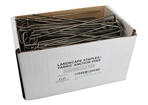 150-garden-landscape-staples-stakes-fabric-anchor-pins-6-inch-strong-durable-11-gauge-steel-usa-by-p