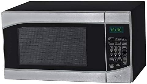 "Avanti MT9K3S 0.9 Cubic Foot Microwave Oven, 11"" x 19"" x 13.8"", Stainless Steel, Black"