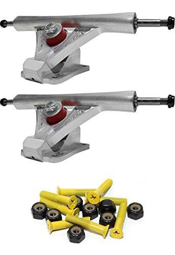 研磨剤黙認する騒々しいナビゲータTrucks precision Droneリバーシブルハンガー42 / 36度180 mmスケートボードReverse Kingpinトラックwith 1