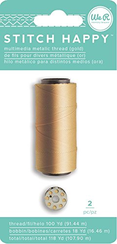 We R Memory Keepers Stitch Happy Specialty Thread - Metallic - Gold (2 Piece) by We R Memory Keepers