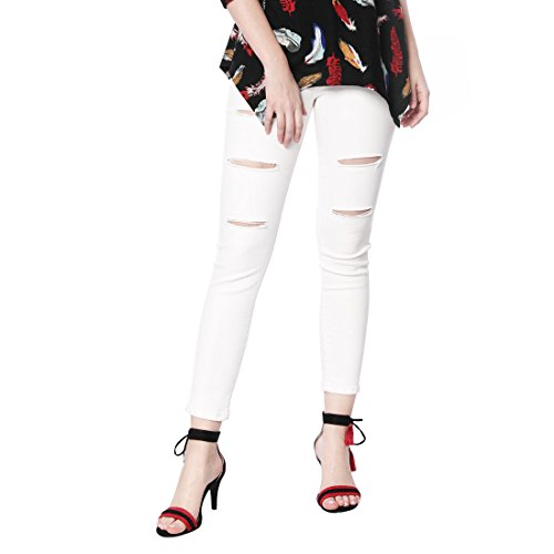 Allegra K Women's Contrast Color Ankle Tie Sandals Black VfMt2ZF
