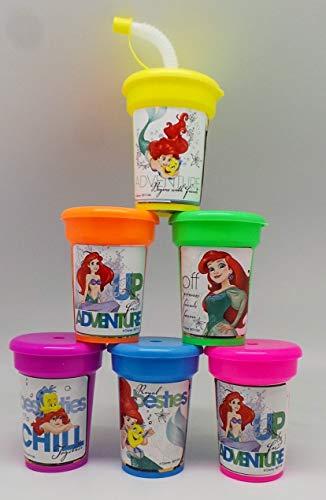 Ariel the Little Mermaid Party Cups 6 pack Sipper Favor - Mermaid Little Party Ariel