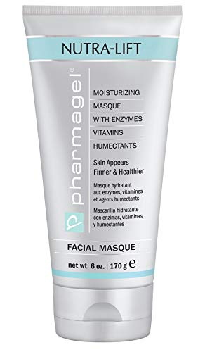 Pharmagel Nutra-Lift Facial Masque Hydrating, Brightening, and Anti-Aging Facial Mask Clay Mask Face Moisturizer for All Skin Type – 6 oz.