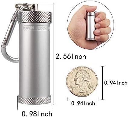 [スポンサー プロダクト]携帯灰皿 ステンレス 吸殻入れ おしゃれ 軽量 便利 シルバー 防水 TEMLUM