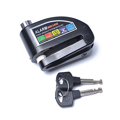 Bloqueo de disco de freno antirrobo para motocicleta, alarma de disco de 110 dB de sonido y pin de 6 mm para motocicletas y...