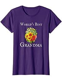 World's Best Grandma Gorgeous Floral Flower Bouquet TShirt