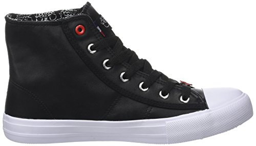 Alto Black Le Sneaker Black Collo Cerises Nero Heart Donna des Origin High Temps a Heart aaq1c8