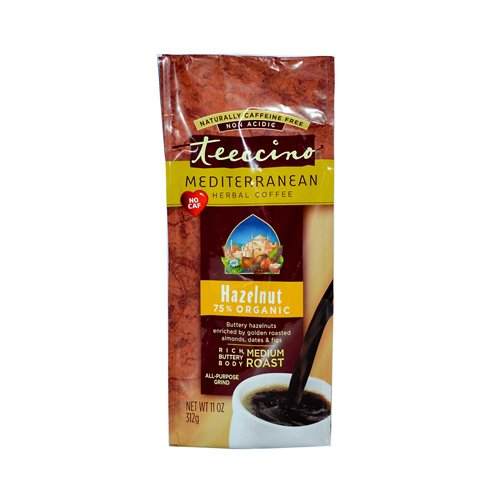 Teeccino Mediterranean Herbal Coffee Hazelnut - 11 Oz - Case Of 6 -