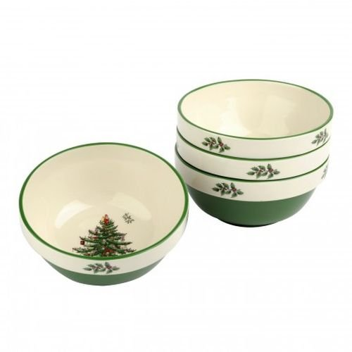 Spode Christmas Tree Stacking Bowls, Set of (4 Stacking Bowls)