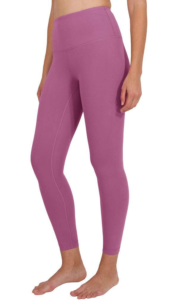Yogalicious High Waist Ultra Soft Lightweight Leggings - High Rise Yoga Pants - Strawberry Nectar Ankle Length - XS by Yogalicious