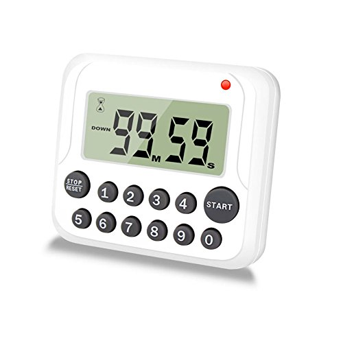 EMDMAK Digital Kitchen Timer Cooking Timer Count Down/Count Up Timer Clock with Loud Alarm Large LCD Display Magnetic Back