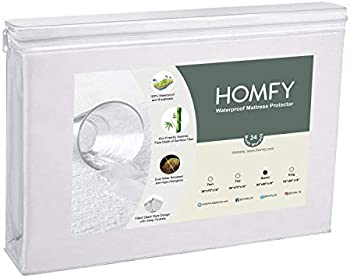 HOMFY Queen Premium Hypoallergenic Waterproof Mattress Protector