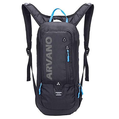 Arvano Cycling Backpack Biking Rucksack - Breathable Hydration Pack Lightweight Ski Rucksack, Gear for Running Biking Skiing (Black)