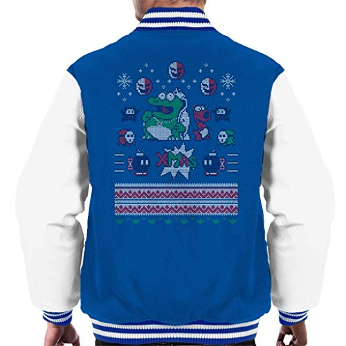 Pattern Pattern Pattern Mario King Knit Koopa Brothers Royal Jacket White Super Christmas Varsity Men's FawdgYFq