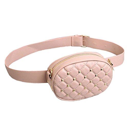 para 5 36x4 Mujer Remache Bolso Dabixx 72 Diseño 51x2 Negro Beige Color de Rosa Cintura 14x6x12cm de xqtw7S67