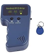 125KHz EM4100 Handheld RFID Copier Portable ID Card Copier Reader/Writer Duplicator + Keyfob