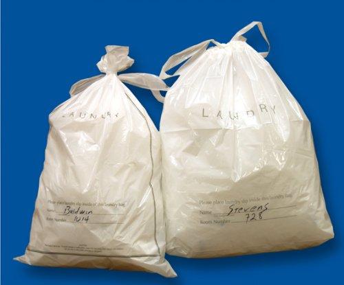 18 X 19 + 4'' .9 MIL Plastic Hotel Laundry Bags w/ Draw Tape Closure (1,000 Bags) - Elkay Plastics TPS-HFP06