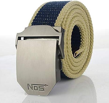WDYDDW Men'S Belt,Men&Women Military Canvas Belt Metal
