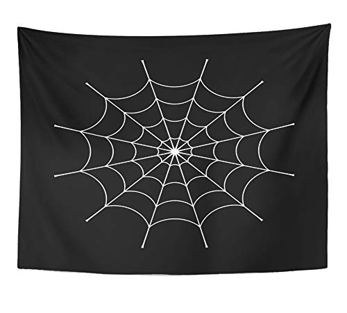 Emvency Tapestry Wall Hanging Spider Clip White Cobweb