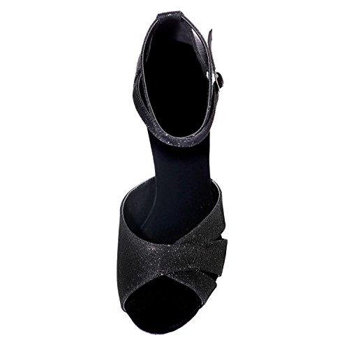 L@YC Zapatos De Baile De Mujer De Cuero Latino / Espumosos Profesionales Hechos En Interiores Red