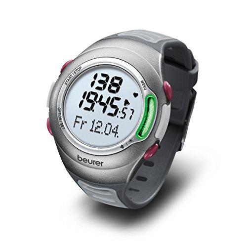 Beurer PM 70 Pulsuhr, Messung von Puls, Zeitmanagement, wasserdicht, Fahrradhalterung und PC-Schnittstelle, Fitnesstest
