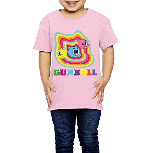 Geneva F Amazing World Of Gumball Child's T Shirts For Girls & Boys Pink 2 Toddler -