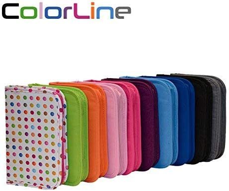 Colorline 58211 - Estuche Portatodo Classic con 28 Apartados de Goma Elástica para Colocar Individualmente los Útiles Escolares. Color Morado, Medidas 14 x 21.5 x 3.6 cm: Amazon.es: Oficina y papelería