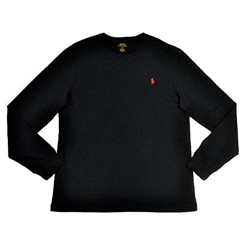 Polo Ralph Lauren Mens Custom Fit Crew T-shirt Long Sleeve (X-Large, - Ralph Customer Lauren Polo Service