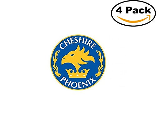 fan products of Basketball Cheshire Phoenix Logo 4 Stickers 4X4 Inches Car Bumper Window Sticker Decal