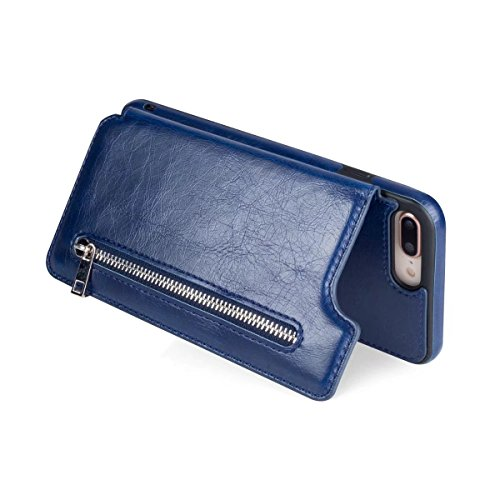 Abtory iPhone 8 Plus Case, Wallet Case with Credit Card Holder Slim Leather Shockproof Protective Hybrid Case with Stand Phone Case for iPhone 7 Plus/iPhone 8 Plus Blue by Abtory (Image #6)