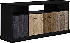altra furniture blackburn 60 tv console with multicolored door fronts black amazoncom altra furniture ryder apothecary tv