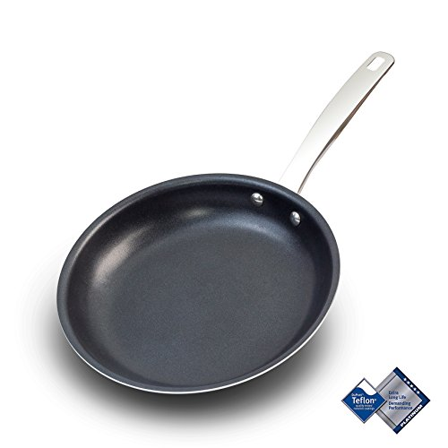 Letschef Aluminum Nonstick Fry Pan 10.6 Inch, Professional Frying/Omelette Pan/Open Skillet, Kitchen Cookware with Dishwasher Safe Oven Safe, Scratch Resistant (Aluminum Oven Skillet Safe)