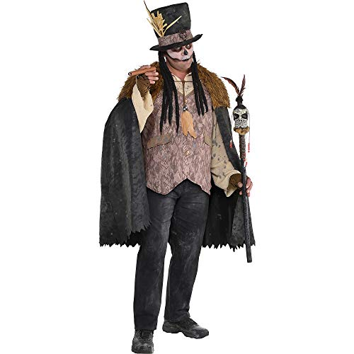 Suit Yourself Witch Doctor Halloween Costume for Men, Plus Size, with Included Accessories]()