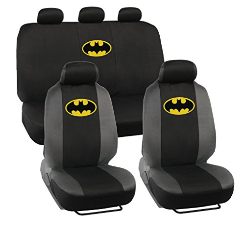 BDK 9 Pc Warner Brothers Batman Licensed Original Low Back Seat Covers Set ()
