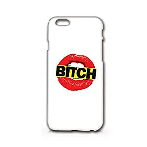 Supertrampshop - Red Lips and Bitch - Cover Iphone 6 Full Protection Durable Hard Plastic Case