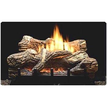 Amazon Com 24 Quot Propane Lp Gas Manual Fireplace Log Insert Home Amp Kitchen