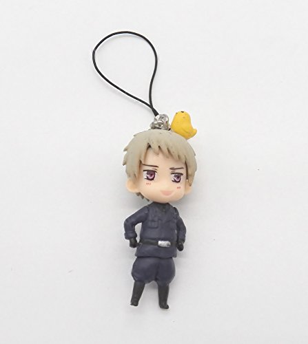 """2"""" Axis Power Hetalia Prussia Mascot Cell Phone Accessory Charm Strap from Anime"""
