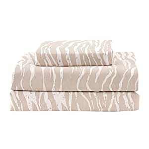 "Sheet Set,4-Piece Microfiber Solid Coffee with 12"" Pocket Depth , Twin"