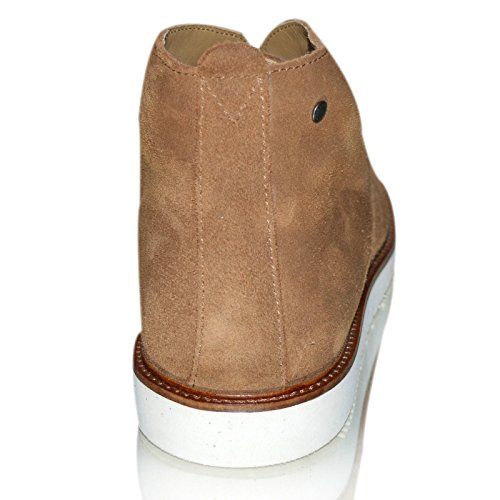 Base Londra Mens Boot In Chukka In Pizzo Scamosciata Cobden (qh04263) Tabacco
