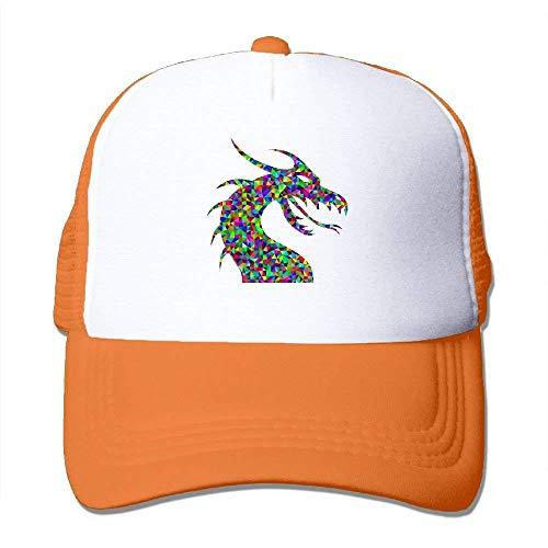 - WHRJYURR Prismatic Low Poly Mesh Trucker Caps/Hats Adjustable for Unisex Black