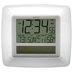 La Crosse Technology WT-8112U-WH Solar-Powered Atomic Digital Clock