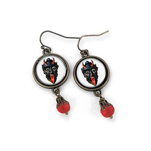 Victorian krampus Earrings -
