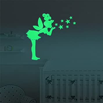 Great Marsway Funny Gril Stars Luminous Sticker Glow In The Dark Sticker Kids  Room Wall Decal Part 20
