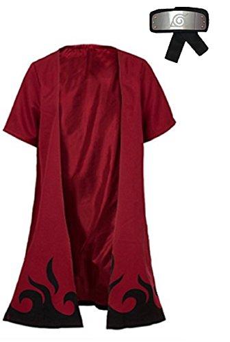 Fuji Unisex Halloween Cosplay Naruto Uzumaki Costume (S, Magenta) ()