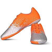 Vector X Defender Indoor Football Shoes (Grey-Orange)