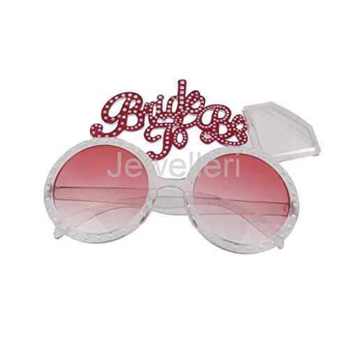 VIPASNAM-Bride to be Bachelorette Hen Glasses Pink Bling Diamond Ring - Igog Sunglasses