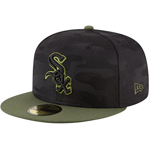 New Era Chicago White Sox 2018 Memorial Day On-Field 59FIFTY Fitted Hat – Black/Olive (8)