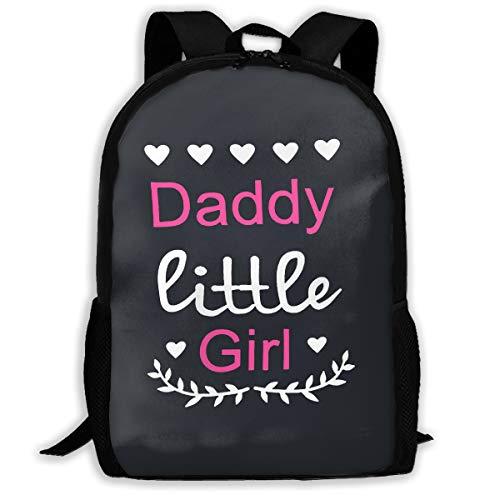 Xiaoki Daddys Little Girl Waterproof Backpack Lightweight School Backpack Laptop Bag for Students Black